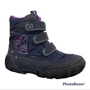 Geox Tex Geox Respira Little Girl's Winter Snow Boots